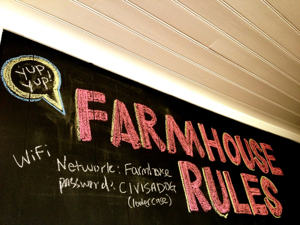 Farmhouse Rules Chalkboard Wall by Heather Peterson